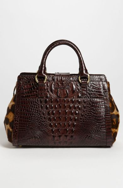 Brahmin Annabelle Calf Hair Handbag In Brown Beige
