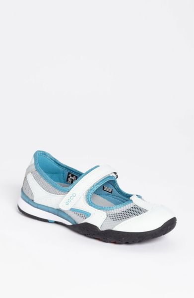 Ecco Terrain Lite Mary Jane Sneaker in Blue (shadow white/ concrete/ blue) - Lyst