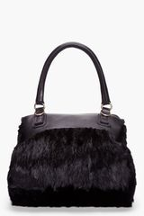 Givenchy Small Black Mink Fur Pandora Bag in Black - Lyst