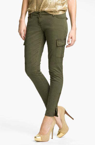 Original  Ralph Lauren Skinny Freedom Cargo Pant In Green Basic Olive  Lyst