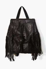 Nasty Gal Dylan Fringe Leather Backpack