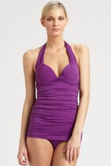 Natori Onepiece Pushup Swimsuit in Purple (deepamethyst) - Lyst
