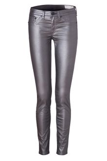 Rag & Bone Pewter Metallic Coated Jean Leggings - Lyst
