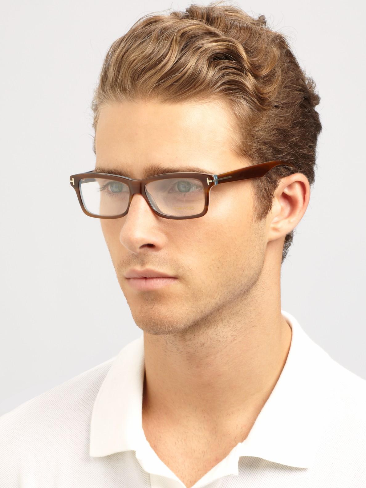 lyst tom ford plastic optical frames in brown for men. Black Bedroom Furniture Sets. Home Design Ideas