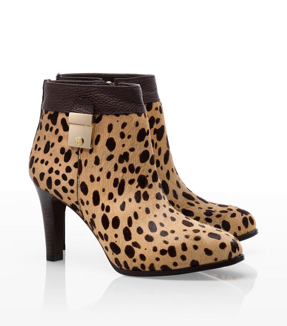 8235fca5c Lyst - Tory Burch Priscilla Leopard-print Calf Hair Boots