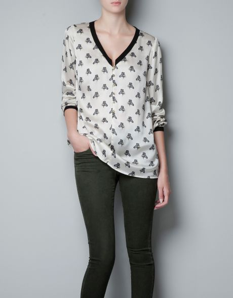 Zara Zebra Print Blouse 21