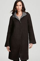 Eileen Fisher Alpaca High Collar Coat - Lyst