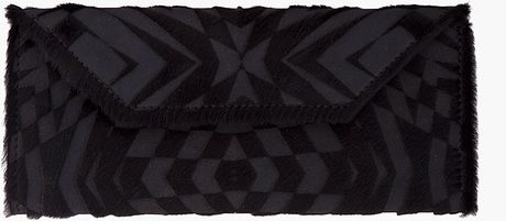 Gareth Pugh Black Checkered Calfhair Wallet in Black - Lyst