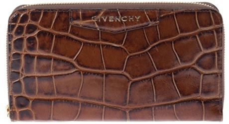 Givenchy Scaled Wallet in Brown