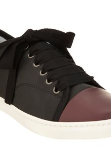 Lanvin Cap Toe Low Top Sneakers - Lyst