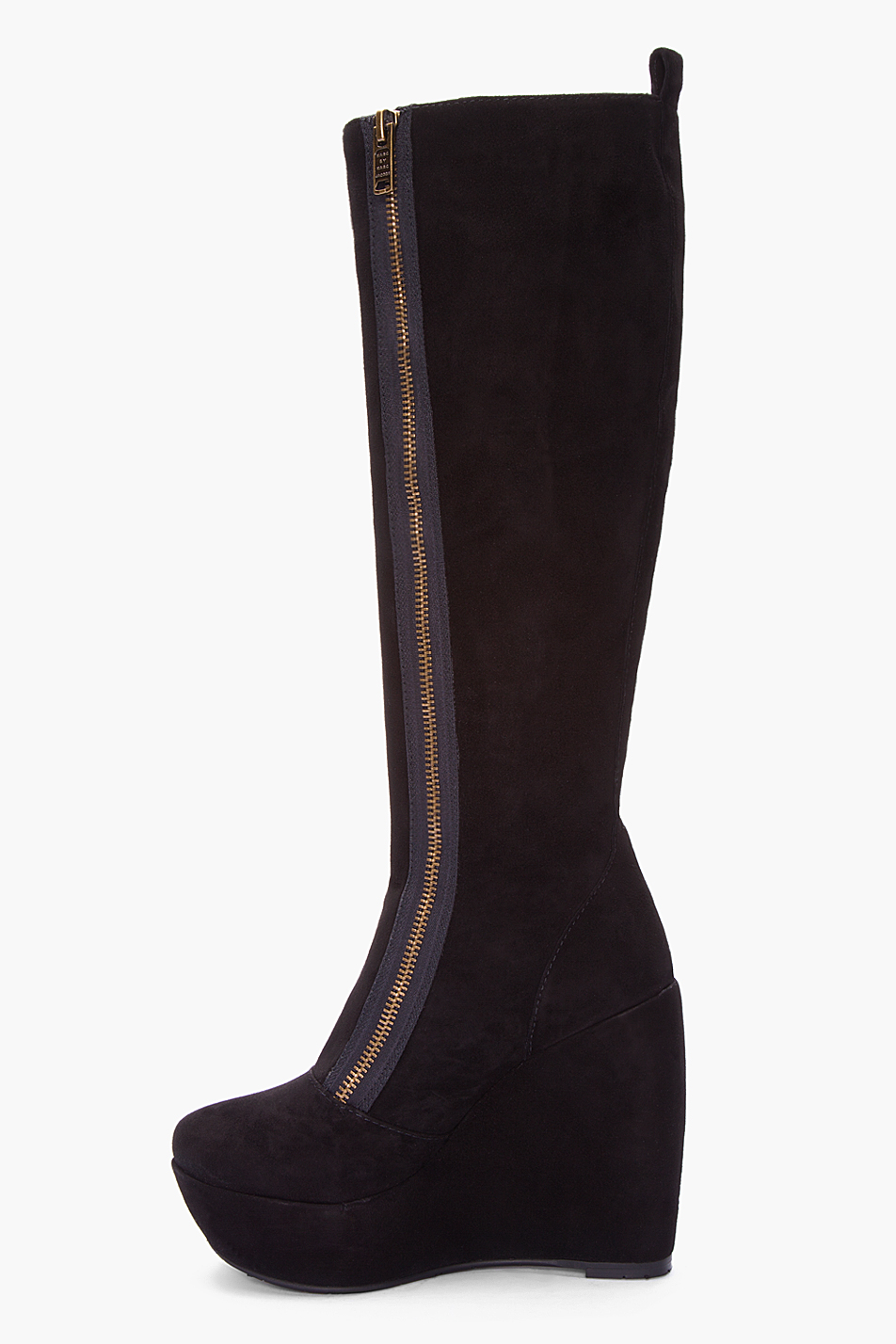 Lyst Marc By Marc Jacobs Black Suede Wedge Boots In Black