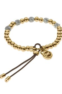 Michael Kors Bead Stretch Bracelet Golden - Lyst