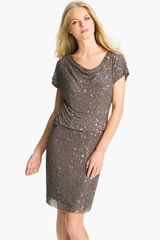 Pisarro Nights Cowl Neck Embellished Silk Dress - Lyst