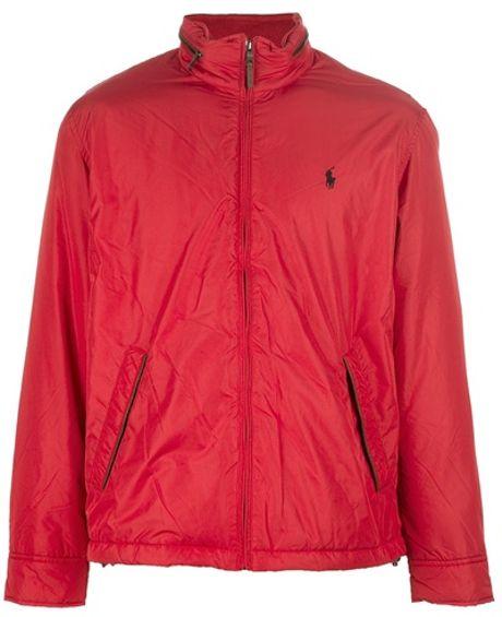 polo ralph lauren padded bomber jacket in red for men lyst. Black Bedroom Furniture Sets. Home Design Ideas