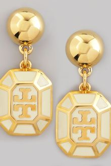 Tory Burch Rylan Logo Drop Earrings  - Lyst