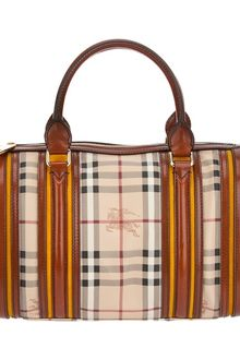 Burberry Haymarket Check Bowling Bag - Lyst