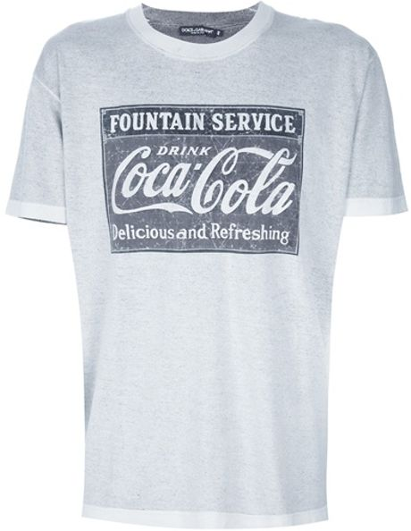 Dolce & Gabbana Coca Cola T-Shirt in Gray for Men (grey)