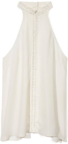 Honor Ss Sleeveless Top with Macrame Trim - Lyst