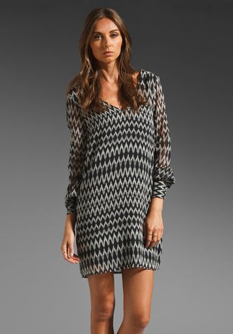 Rory Beca Eles Shift Dress in Blackwhite Zig Zag - Lyst