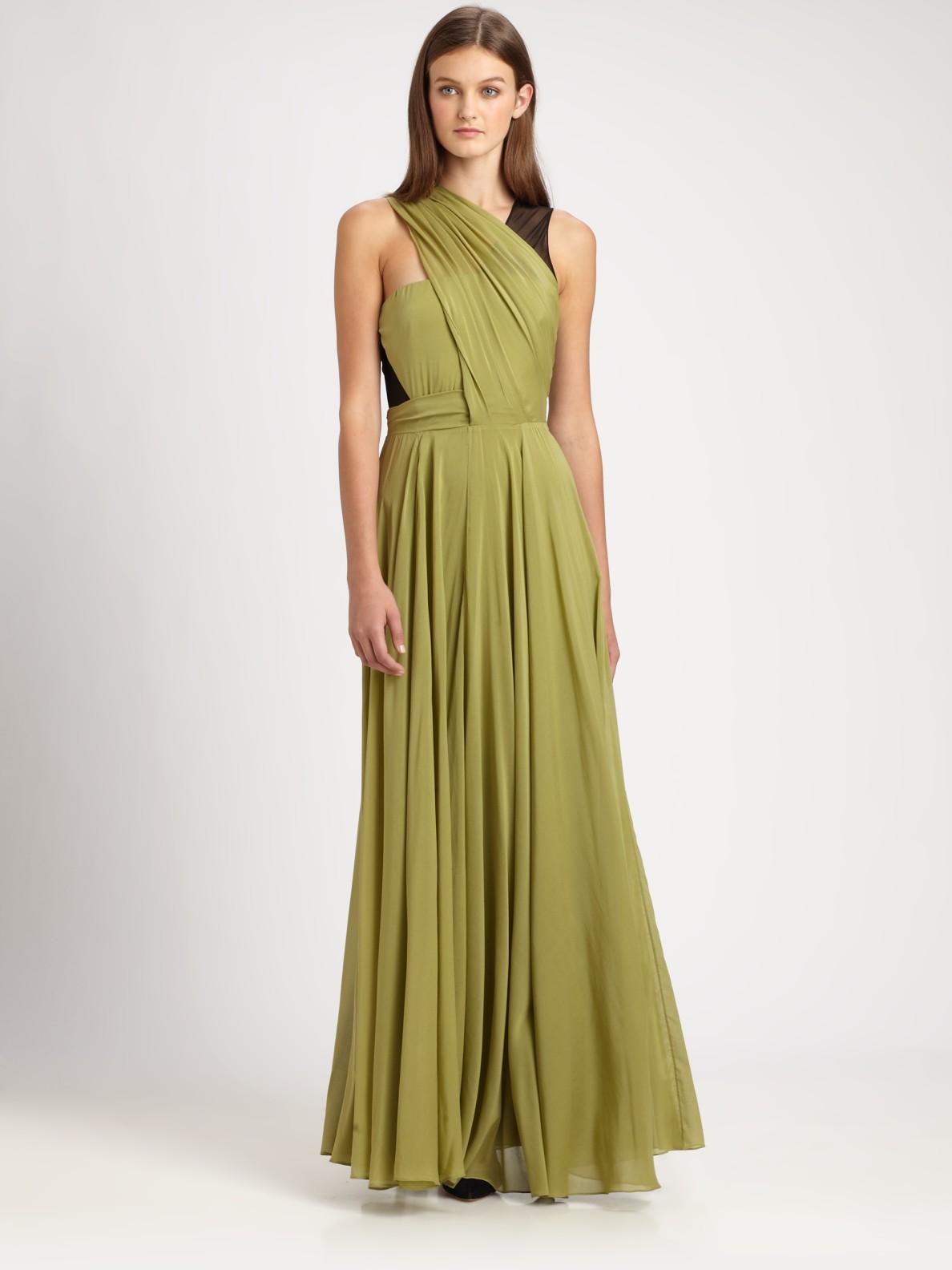 Lyst 31 Phillip Lim Draped Silk Gown In Green