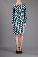 Diane Von Furstenberg Taisha Silk Printed Dress in Blue - Lyst