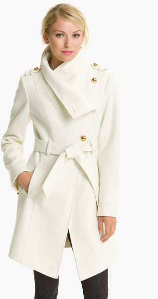 Guess Belted Asymmetrical Coat - Lyst