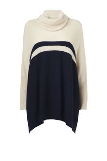 Jaeger Colour Block Oversize Sweater - Lyst