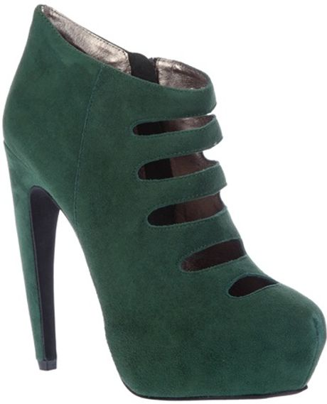Jeffrey Campbell Cutout Ankle Boot in Green - Lyst