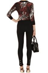 Karen Millen Snake Print Cardigan in Brown (multi-coloured) - Lyst
