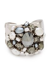 Kenneth Jay Lane Crystal Pearl Cuff - Lyst