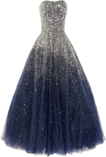 Marchesa Sequined Strapless Silk Tulle Gown - Lyst