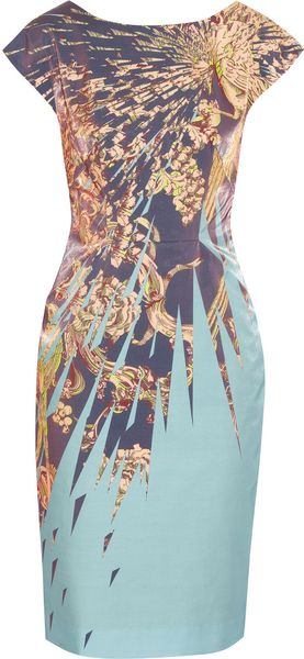 Matthew Williamson Satin Dress in Multicolor (multicolored) - Lyst