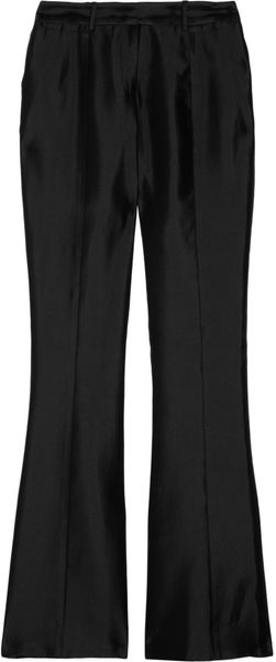 Prabal Gurung Silk and Cotton-Blend Sateen Flared Pants - Lyst