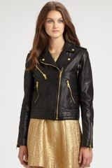 Rag & Bone Bowery Convertible Leather Jacket in Black - Lyst