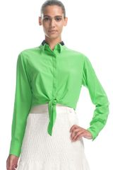 Rag & Bone Daisy Shirt in Green (poison green) - Lyst