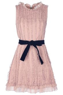 RED Valentino Belted Dress - Lyst