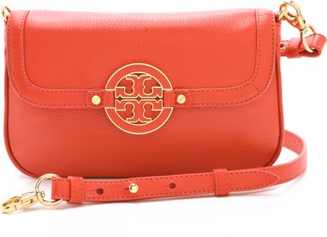 Tory Burch Amanda Cross Body Bag in Red - Lyst