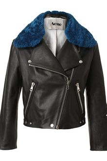 Acne Rita Leather and Shearling Jacket - Lyst