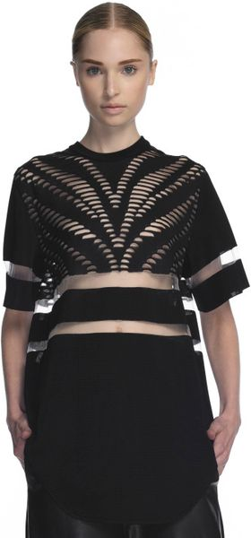 Alexander Wang Suspended Zebra Short Sleeve Hockey Jersey in Black (onyx) - Lyst