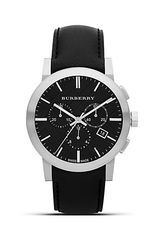 Burberry Black Leather Strap Watch 42mm - Lyst