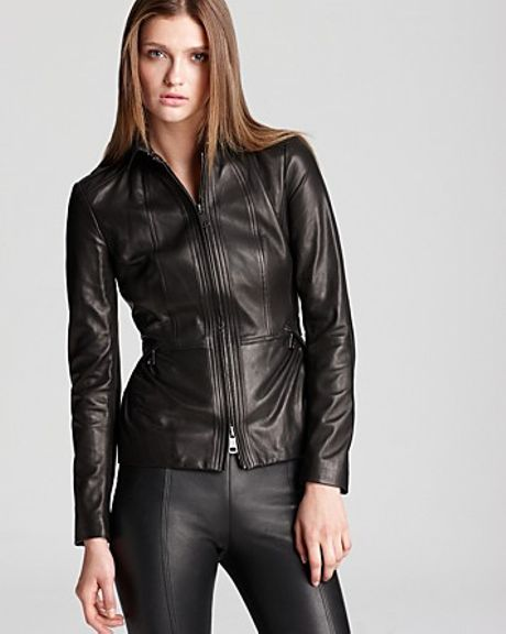 Burberry London Leather Jacket Nurton Lightweight in Black   Lyst