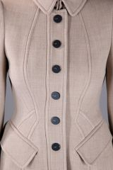 Burberry Prorsum Fitted Coat in Beige (nude) - Lyst