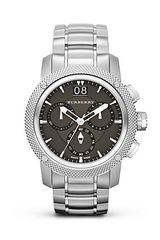 Burberry Silver Stainless Steel Watch 46mm - Lyst