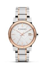 Burberry Two Tone Stainless Steel Watch 38mm - Lyst