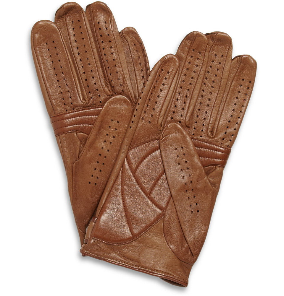 Perforated Leather Driving Gloves Zara - Ies lined warm leather work gloves tan m l xl mens