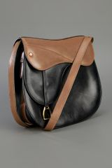 Gucci Leather Saddle Bag in Brown (black) - Lyst