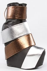 Jeffrey Campbell The Rooney Shoe in Black Bronze and Silver - Lyst