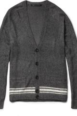 Marc By Marc Jacobs Striped Silk and Cashmere Blend Cardigan - Lyst