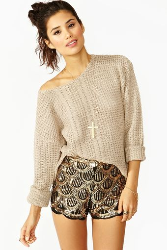 Nasty Gal Deco Sequin Shorts - Lyst