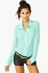 Nasty Gal Studded Diamond Blouse  - Lyst